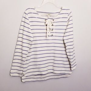 Sailing Lace-Up High/Low Tunic